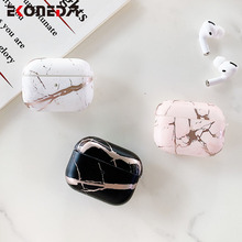 EKONEDA Luxury Marble Case For Airpods Pro Case Silicone Soft TPU Charging Box Shell For Airpod Pro Protective Case Cover
