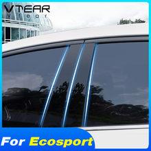 Vtear naklejki na okna Anti-naklejka przeciw porysowaniu zewnętrzna dekoracja samochodu stylowe wykończenie samochodu akcesoria części do Ford Ecosport 2014 2019