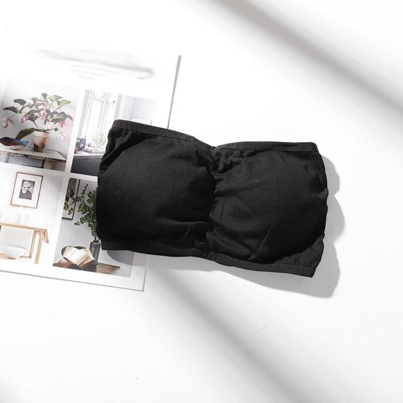 Women's Intimates Strapless Bras Female Breathable Non-slip Strapless Wrapped Chest Underwear Ladies Tube Tops