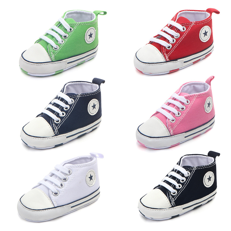 New Canvas Classic Sports Sneakers Newborn Baby Boys Girls First Walkers Shoes Infant Toddler Soft Sole Anti-slip Baby Shoes(China)