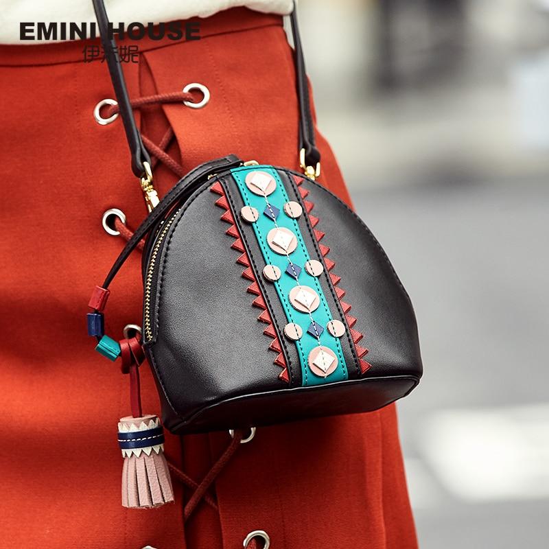 Shell-Bag Indian-Style Purse Crossbody-Bags Emini-House Women Fashion Tassel for Lady