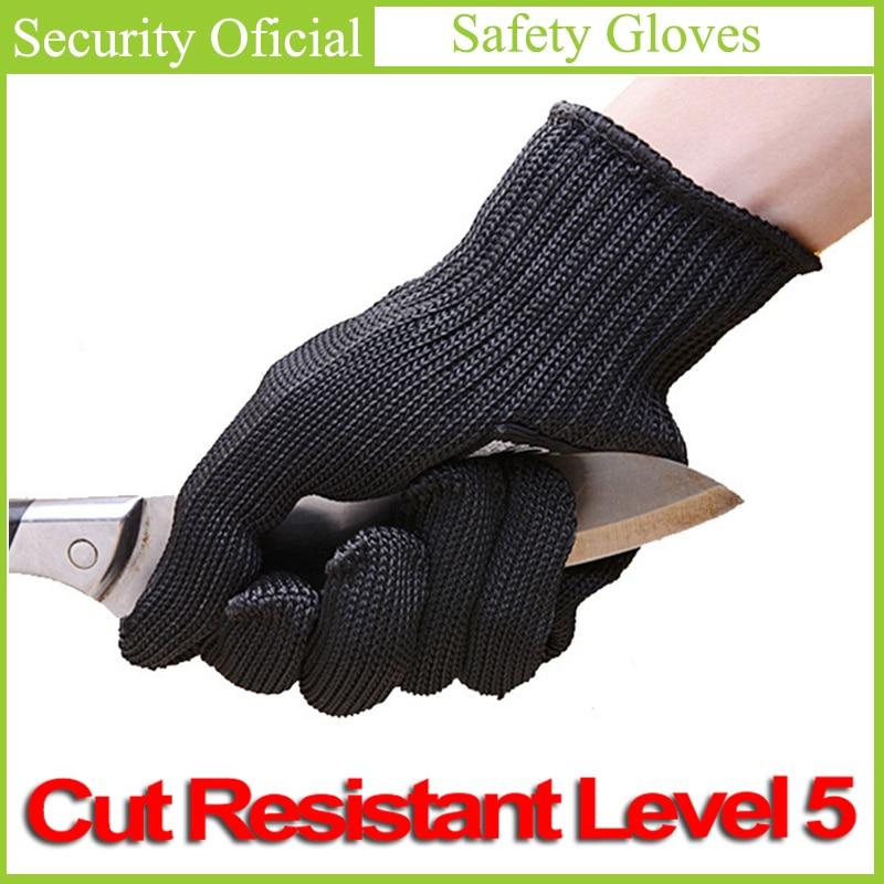 Anti-Cut Gloves EN388 Cut Resistant Level 5 Stainless Steel Wire Mesh New Self Defense Supplies Guantes Seguridad Gants Travaux