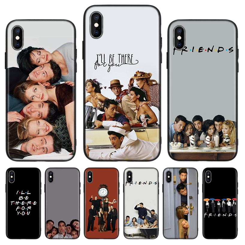 Friends TV Show Black Back Cover Phone Case For Apple IPhone 11 Pro XS MAX XR 7 8 6 6S Plus X 10 Ten 5 5S SE Coque Shell