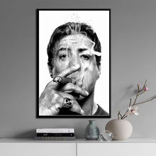 Sylvester Stallone smoking cigar movie star art painting high quality canvas canvas poster wall home decoration No Frame o440(China)