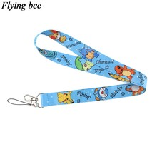 Flyingbee fashion kids Keychain Phone Lanyard Cartoon cute Neck Strap for Keys ID Card Mobile Phone Lanyards X0566(China)