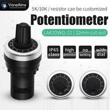 Schnelle verdrahtung potentiometer, bequeme installation 22mm frequenz konverter, präzision geschwindigkeit controller 1K5K10K50K100K