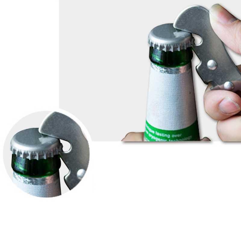 Ze stali nierdzewnej ręczny otwieracz do puszek wygodny otwieracz do butelek do kuchni uchwyt słoik cynowy butelka otwieracz do puszek narzędzia Bar dostaw