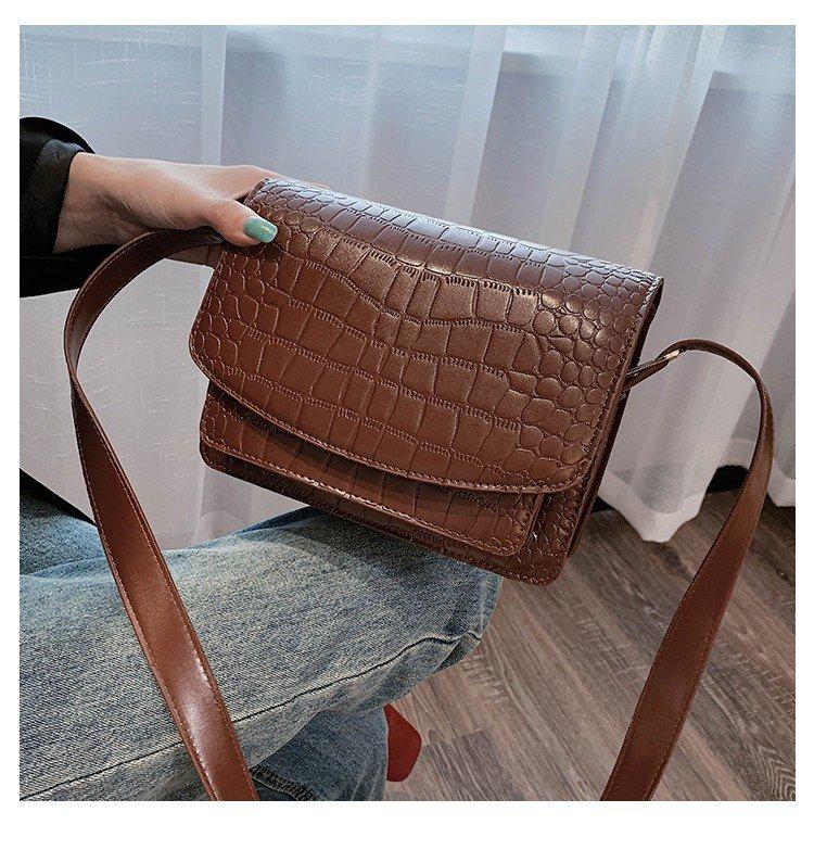 New Fashion Women/'s Bag Simple Crocodile Chain Messenger Bag Shoulder Bag