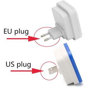 """Image 5 - מיני LED 0.5W לילה אור שליטה אוטומטי חיישן תינוק שינה מנורת כיכר לבן צהוב AC110 220V LED לילה אור עבור תינוק ארה""""ב האיחוד האירופי"""