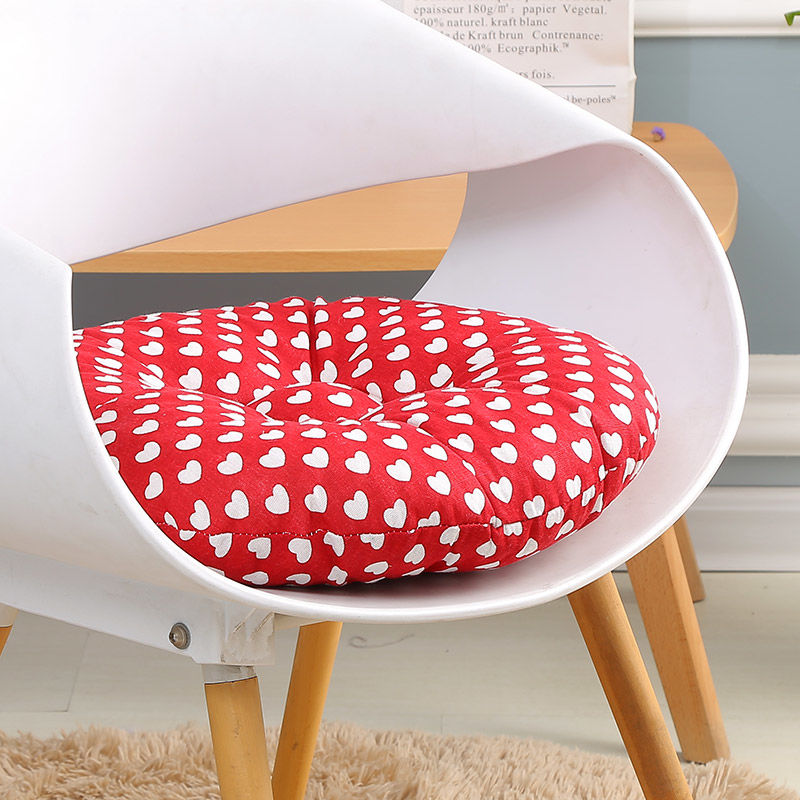 Heart Pattern Seat Cushion Cloth Round Meditating Cushion Office Chair Pad Sofa Tatami Pillow For Home Simple Futon Mat For Room