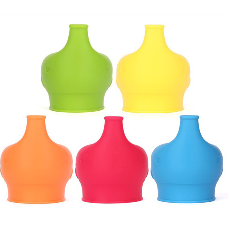 Silicone Sippy Lids For Baby Drinking Converts Any Cup Or Glass To A Cup Makes Drinks Spillproof
