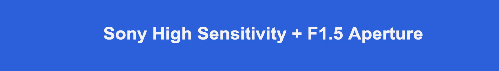 Sony high sensitivity + F1.5 aperture标题