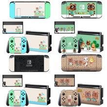 Animal Crossing etiqueta protectora de pantalla para Nintendo Switch NS, base de carga, soporte para Joycon, funda para mando