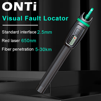 ONTi High Quality Visual Fault Locator 1mW 10mW 20mW 30mW Red Light Fiber Optic Cable Tester 5-30KM Range - discount item  50% OFF Communication Equipment