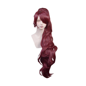 Image 1 - Principessa Megara Cosplay Parrucca Meg Lungo Rosso Sintetica Dei Capelli per Adulti