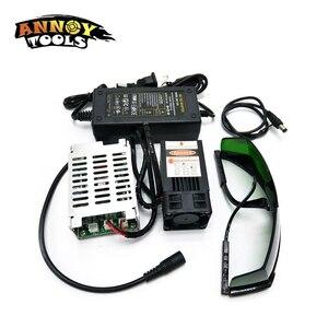 Image 1 - 450nm 15000mW 12V  Laser Module TTL Adjustable Focus Laser Cutter engraver accessories 15W laser head