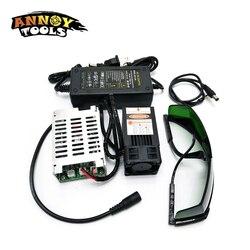 450nm 15000mW 12V Modulo Laser TTL Messa A Fuoco Regolabile FAI DA TE accessori 15W Laser testa laser Cutter engraver Per CNC incisore