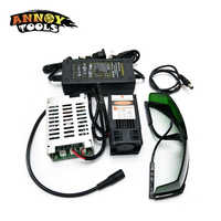 450nm 15000mW 12V módulo láser TTL Enfoque Ajustable DIY cortador láser accesorios de grabado 15W cabezal láser para grabador CNC