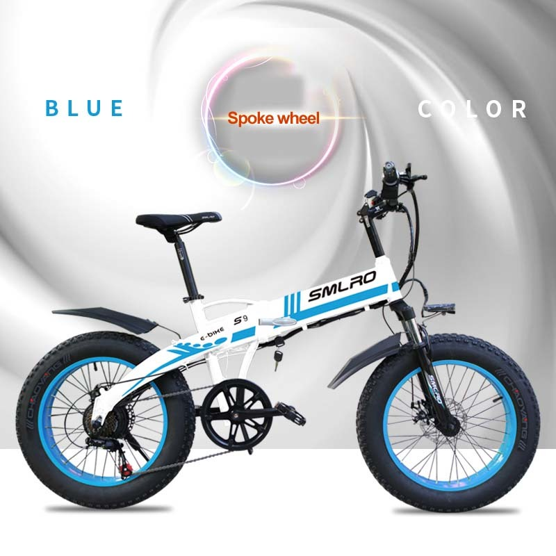 S9F 20inch folding fat electric bike 48v 350w Fat Tire Folding E-Bike For adults 3