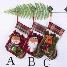 Рождественские украшения для дома, рождественские чулки, мини-носки, Санта-Клаус, конфета, Подарочный мешок, Рождественские елочные украшения, Рождество, год