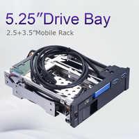 Carcasa de aluminio unetop 2.5in sata a 3,5 sata bandeja de caddy de disco duro backplane 5.25in hdd