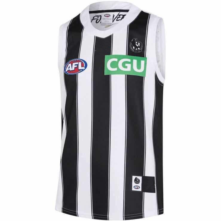 AFL COLLINGWOOD MAGPIES 2019 MEN'S AWAY JERSEY size S-3XL Print custom names and numbers Top quality Free shipping(China)