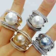 GODKI anillo con perlas de circonia cúbica para mujer, sortija con abalorios, estilo bohemio, para playa, 2020
