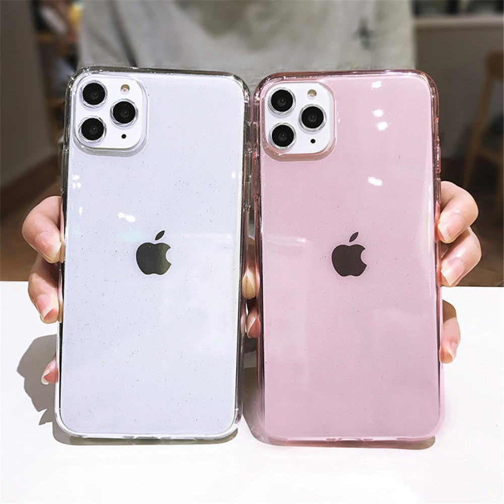 H3ac6730e115d4509bcd519fe1dccfd09q - Moskado Bling Glitter Transparent Phone Cases For iPhone 11 11Pro Max X XR XS Max 7 8 6 6s Plus Clear Solid Soft TPU Back Cover