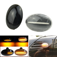 2 peças para mini cooper r56 r57 r58 r59 CL-R56-LSM-SM led marcador lateral dinâmico turn signal light sequencial blinker luz