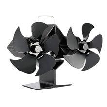 5 лопастных черный вентилятор для камина печи работающий от