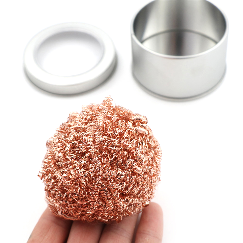 New Welding Soldering Solder Iron Tip Cleaner Cleaning Steel Wire Sponge Balls For Welding Tool Whosesale