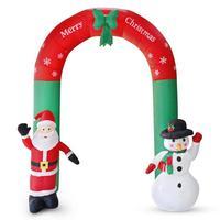 Inflatable Arch Santa Claus Snowman Xmas Outdoors Ornament Shop Yard Decor