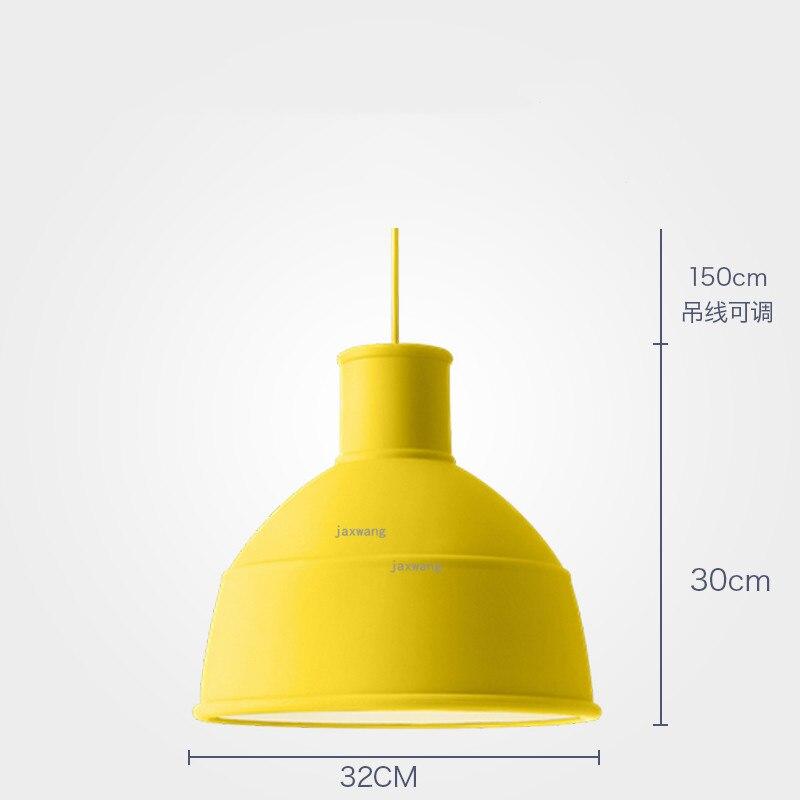 Новинка, подвесной светильник в скандинавском стиле, для столовой, макарон, s, смоляный светильник, светильники, кухонные подвесные лампы, подвесной светильник для гостиной, светодиодный, внутреннее освещение - Цвет корпуса: Yellow 32CM