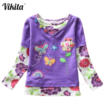 boys long sleeve t shirts for children 2017 autumn pure color t shirt cotton 1 15t kids clothing baby girls tops tees clothes VIKITA Girls T Shirt Kids T Shirt Baby Tees Cotton Flower Tops Clothes Striped Cats Winter Children Girls Tees Long Sleeve G619