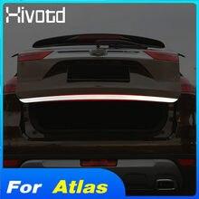 Hivotd Für Geely Atlas Emgrand NL-3 Proton X70 Auto Schwanz Tür Streifen Trim ABS Chrom Hinten Stamm Abdeckung Aufkleber Außen zubehör