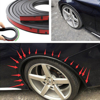 soft Car Fender Flare Extension Wheel Eyebrow Protector Lip Wheel-arch Trim Wheel Eyebrow Arch Decorative Strip Car Tires image