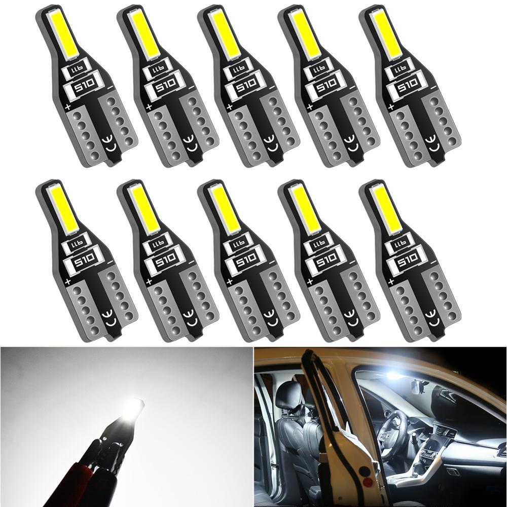 10x T10 W5W LED Bulb 168 194 Car Door light Reading Lamp For Ford Focus 2 3 1 Mk2 Mk3 EXI MT 2004 2005 2006 2007 Auto 12V White
