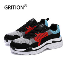 GRITION Men Jogging Walking Sneaker Casual Sport Super High-quality Increase Height Skateboard Shoes Comfort Breathable 2019 New(China)