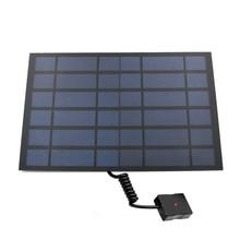 شاحن بالطاقة الشمسية 10 واط 6 واط الألواح الشمسية شاحن مع منفذ Usb الطاقة الشمسية طاقة شاحن البطارية ل الهواتف المحمولة 5 فولت USB