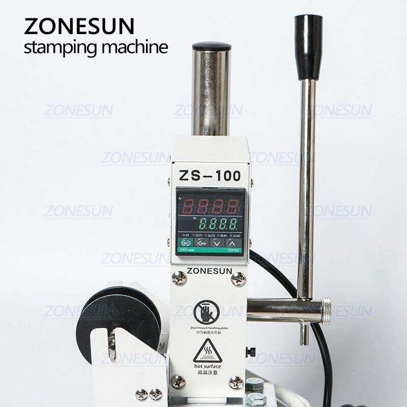 Alibaba グループ 上の ZONESUN ZS 100A カスタムロゴホット箔スタンピングマシンマニュアルブロンズ Pvc カード用の革紙鉛筆マシンをスタンピング 2