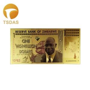 Zimbabwe Gold Banknotes One Vigintillion Dollars Fake Money As Business Gift(China)