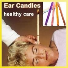 40 шт. конический пчелиный воск натуральный ушной свеча ушной подсвечник терапия прямой Стиль ушной уход термо-Ушная терапия инструмент для подтяжки лица