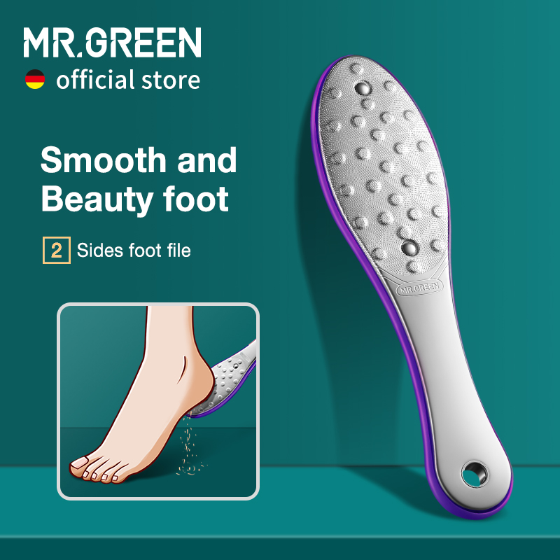 MR.GREEN Pedicure Foot Care Tools Foot File Rasps Callus Dead Foot Skin Care Remover Sets Stainless Steel Professional Two Sides