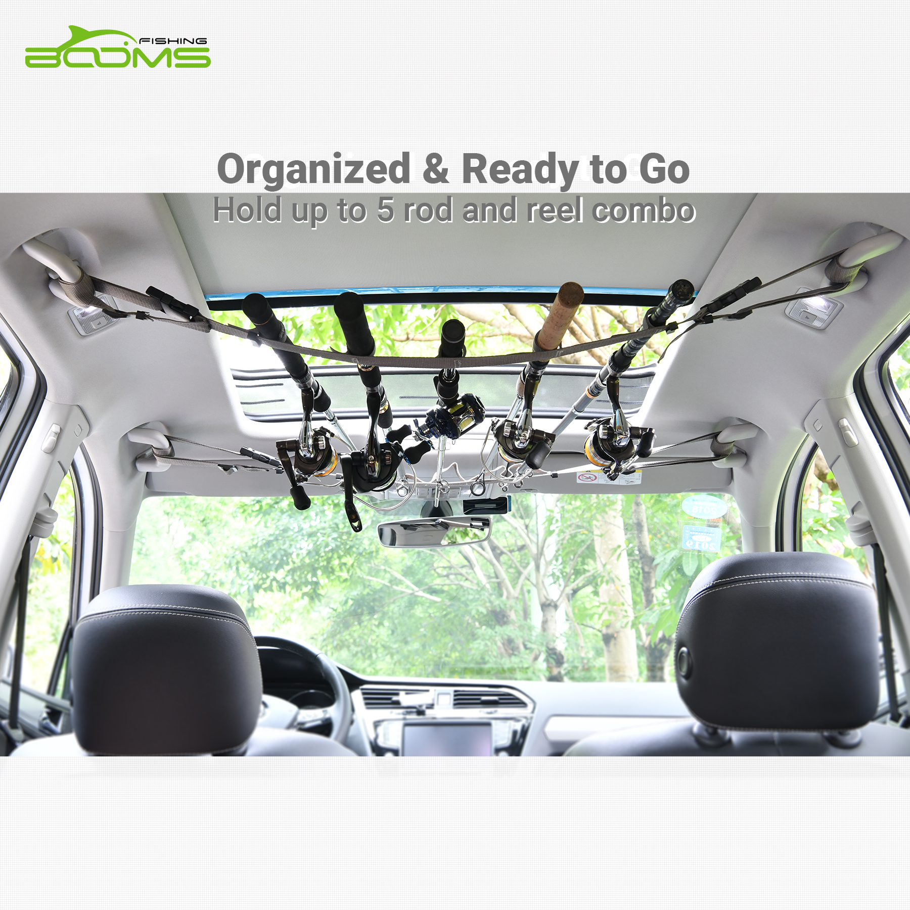 Booms Fishing VRC Vehicle Rod Carrier Strap