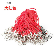 100 pcs/lot Red Cell Phone strap Lanyard Cords Strap Lariat Mobile Lobster Clasp 1HWH camera wrist lanyard lot
