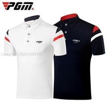 Golf T-Shirt Uniforms Golf-Clothing Tennis-Wear Elastic Short-Sleeve Summer PGM Men Breathable