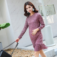 Maternity Long Dresses 2019 Autumn Winter Cotton For Pregnancy Women Sleeve Pregnant Skirt Clothes C0105
