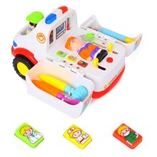 Ambulance Toy Electric Music Lighting Universal Car ChildrenS Home Medical Equipment Portable Boys Toys