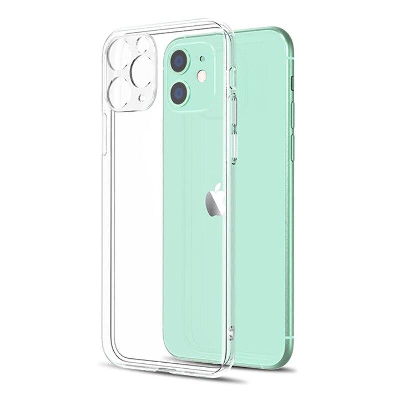 Прозрачный чехол для телефона с защитой объектива для iPhone 11, 7, чехол, силиконовая Мягкая задняя крышка для iPhone 12 Pro, XS, Max, X, XR, 8, 7, 6s Plus, 11, чехол