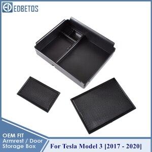 Image 4 - 車の中央コンソールテスラモデル3 2017 2018 2019 2020インテリアアクセサリー収納収納ボックス
